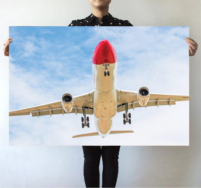 Beautiful Airbus A330 on Approach Printed Posters