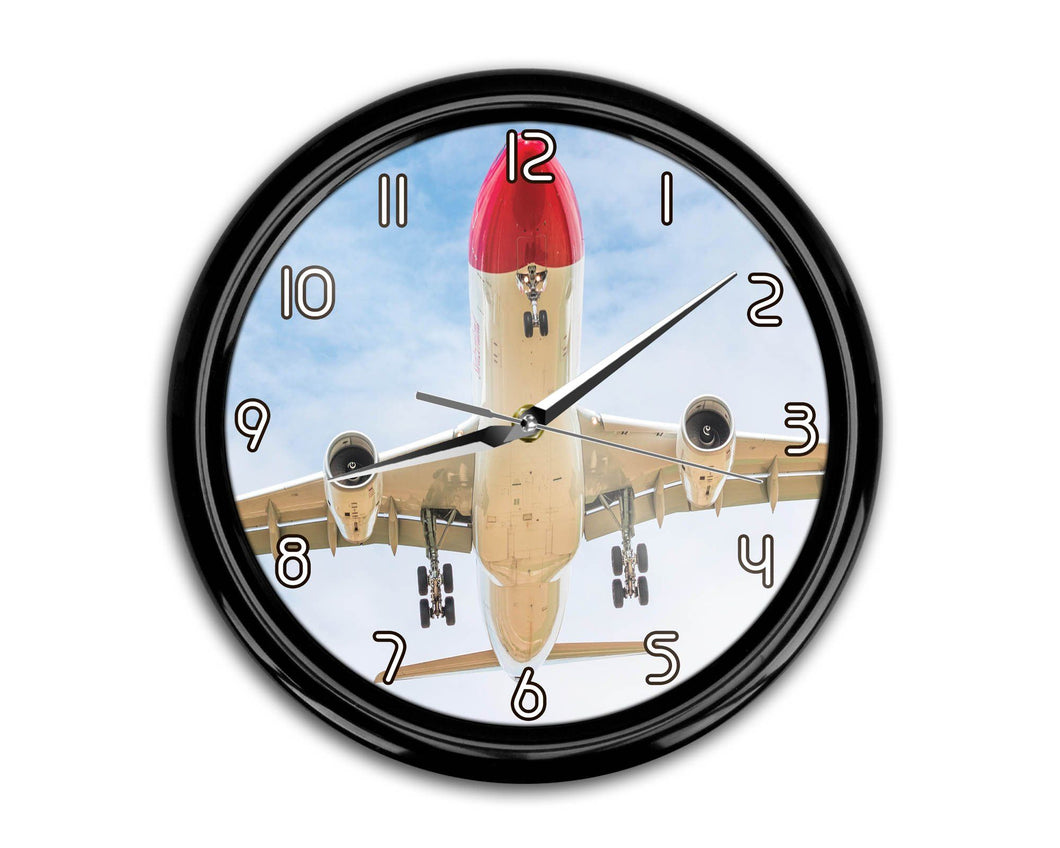 Beautiful Airbus A330 on Approach Printed Wall Clocks Aviation Shop