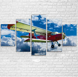 Beautiful Clouds & Antonov-2 Printed Multiple Canvas Poster