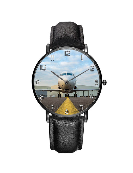 Face to Face with Beautiful Jet Leather Strap Watches
