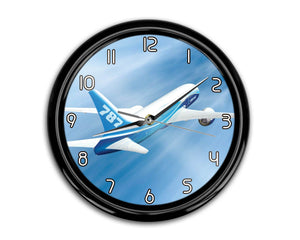 Beautiful Painting of Boeing 787 Dreamliner Printed Wall Clocks Aviation Shop