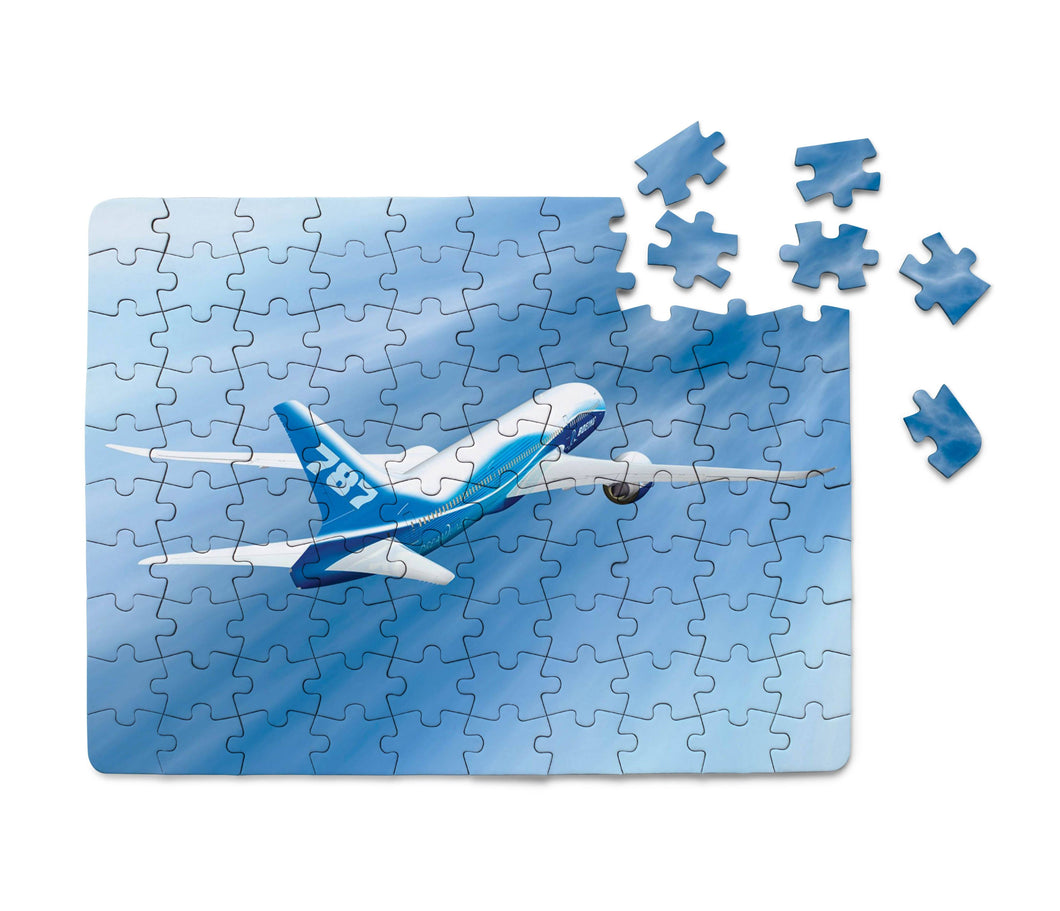 Beautiful Painting of Boeing 787 Dreamliner Printed Puzzles Aviation Shop
