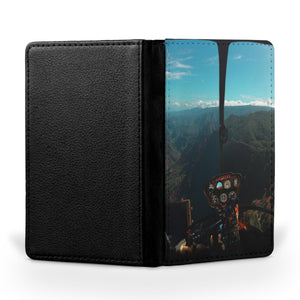 Beautiful Scenary Through Helicopter Cockpit Printed Passport & Travel Cases