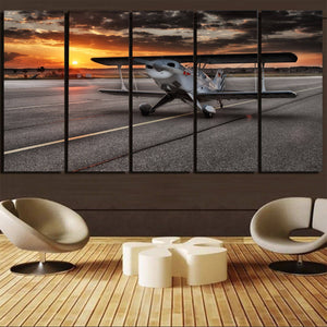 Beautiful Show Airplane Printed Canvas Prints (5 Pieces) Aviation Shop