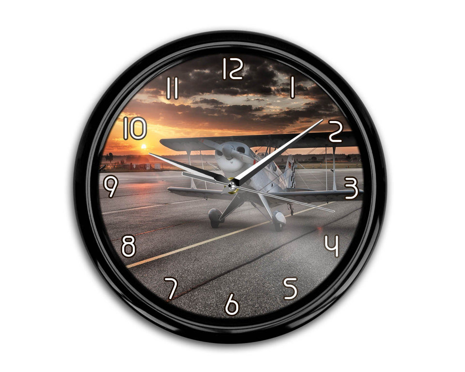 Beautiful Show Airplane Printed Wall Clocks Aviation Shop