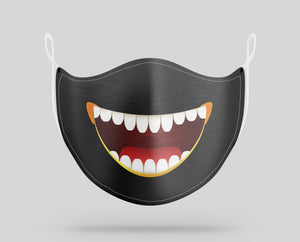 Big Teeth Face Designed Face Masks