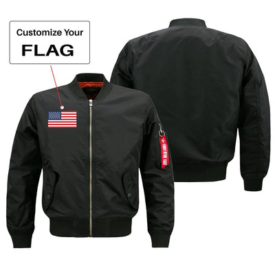 Custom Flag Designed Pilot Jackets (Customizable)
