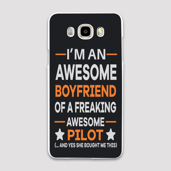 I'm an Awesome Boyfriend of a Freaking Awesome Pilot Samsung C & J Cases