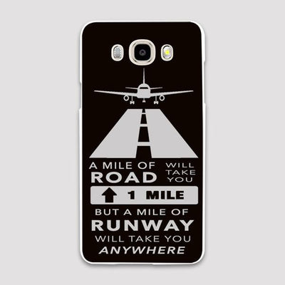 One Mile of Runway will Take you Anywhere Samsung J & C Cases