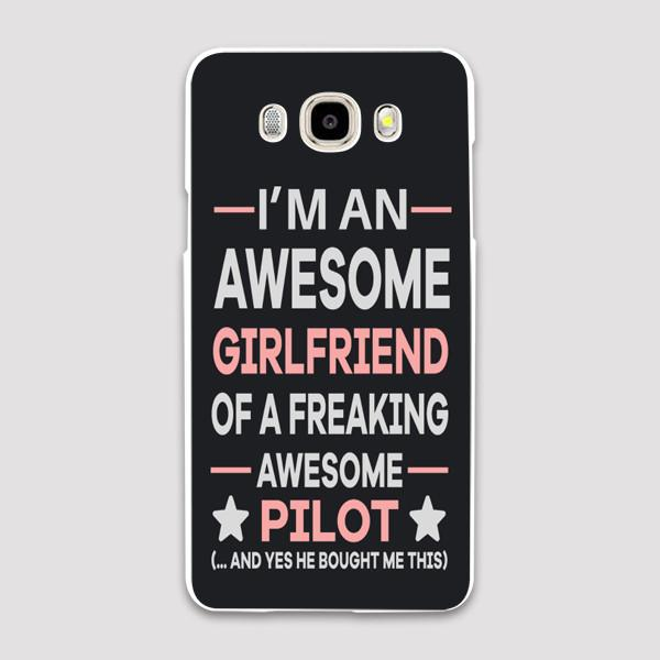 I'm an Awesome Girlfriend of a Freaking Awesome Pilot Samsung C & J Cases