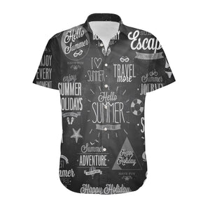Black & White Super Travel Icons Designed 3D Shirts