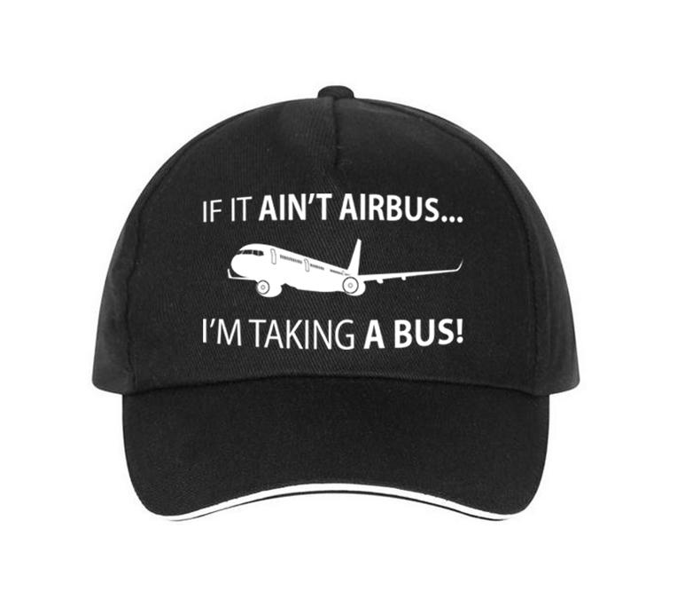 If It Ain't Airbus, I'm Taking a Bus Designed Hats Pilot Eyes Store Black