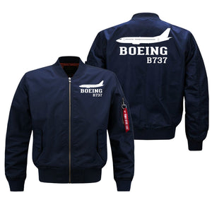 Boeing 737 Printed Pilot Jackets (Customizable) Pilot Eyes Store Blue (Thin) M (US XS)
