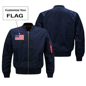 Custom Flag Designed Pilot Jackets (Customizable) Pilot Eyes Store Green (Thin) S (US XXS)