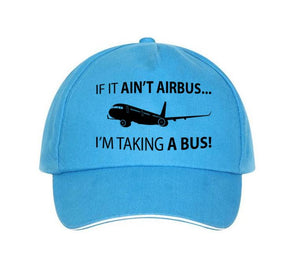 If It Ain't Airbus, I'm Taking a Bus Designed Hats Pilot Eyes Store Blue