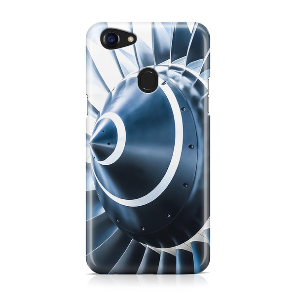 Blue Toned Super Jet Engine Blades Closeup Designed Oppo Phone Cases