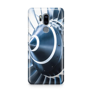 Blue Toned Super Jet Engine Blades Closeup Designed LG Cases