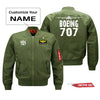 Boeing 707 Silhouette & Designed Pilot Jackets (Customizable)