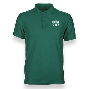Boeing 707 & Plane Designed Polo T-Shirts