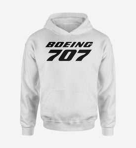 Boeing 707 & Text Designed Hoodies