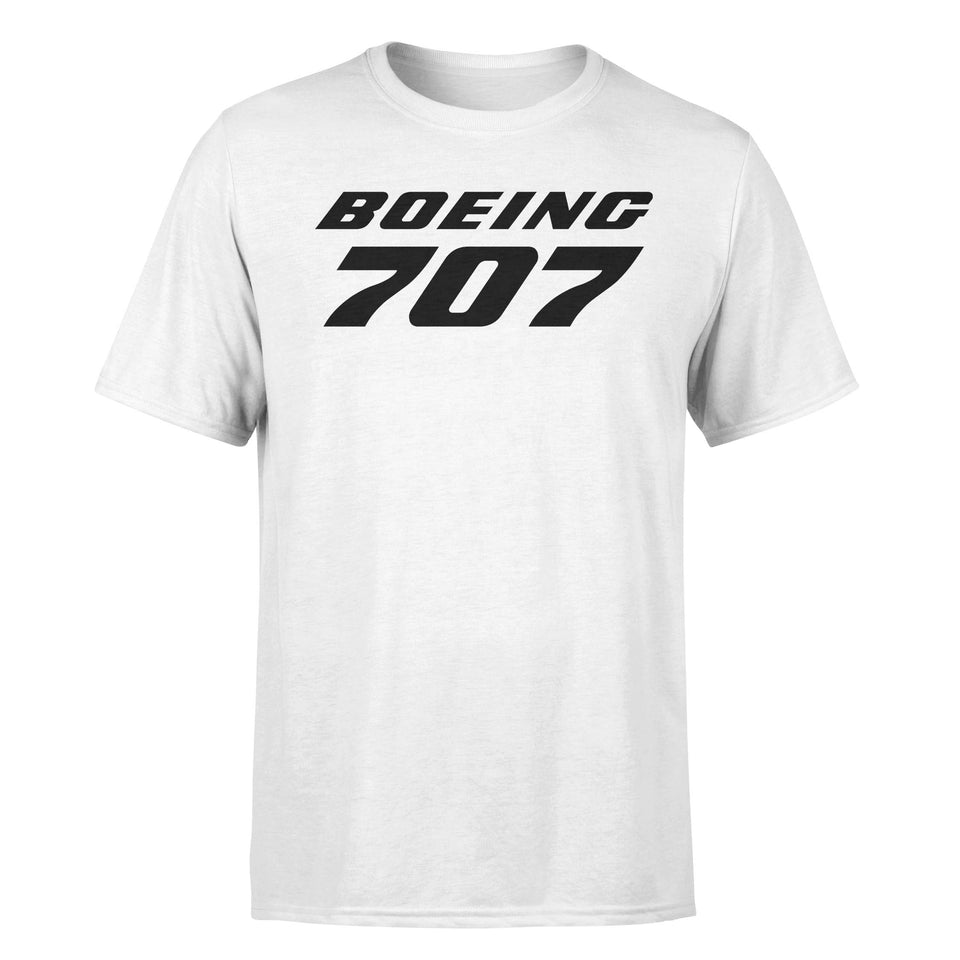 Boeing 707 & Text Designed T-Shirts