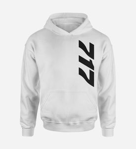 717 Side Text Designed Hoodies
