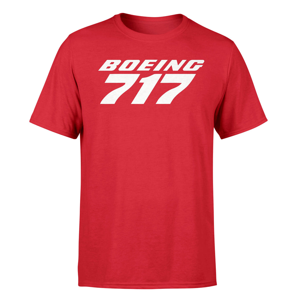 Boeing 717 & Text Designed T-Shirts