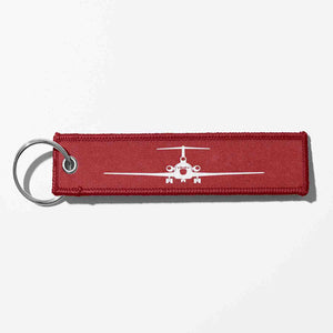 Boeing 727 Silhouette Designed Key Chains
