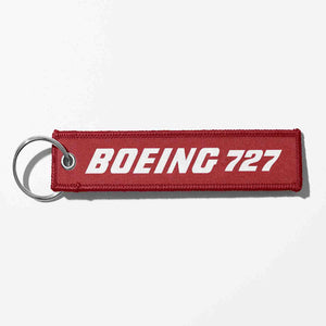 Boeing 727 & Text Designed Key Chains