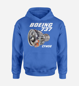 Boeing 737 Engine & CFM56 Designed Hoodies