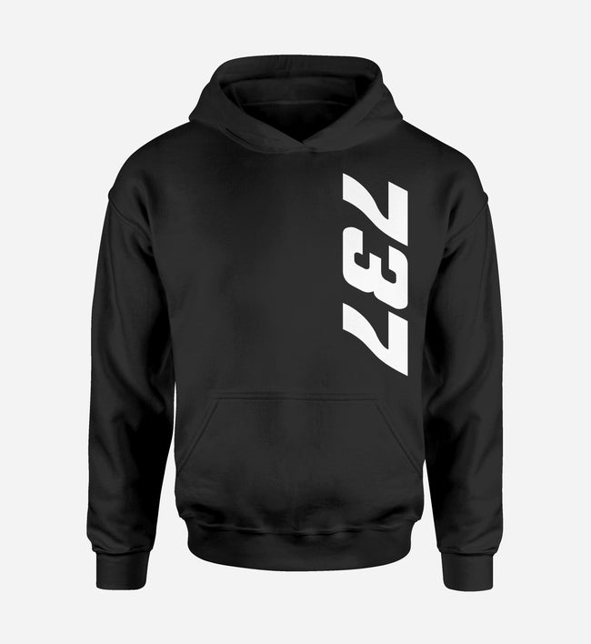 737 Side Text Designed Hoodies
