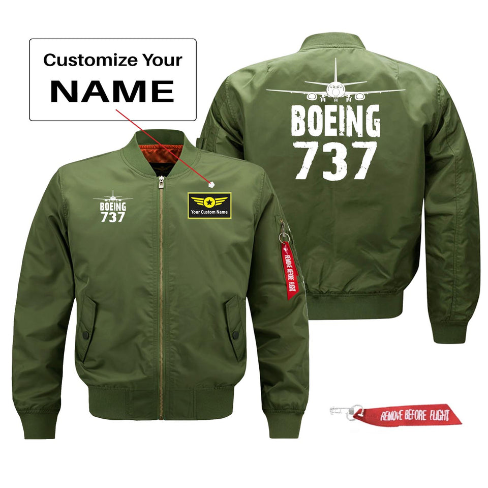 Boeing 737 Silhouette & Designed Pilot Jackets (Customizable)