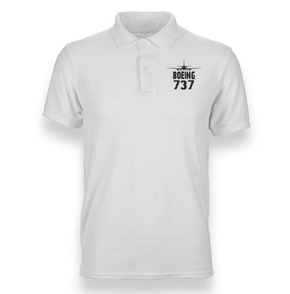 Boeing 737 & Plane Designed Polo T-Shirts
