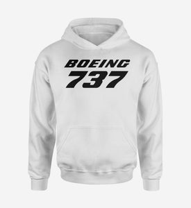 Boeing 737 & Text Designed Hoodies