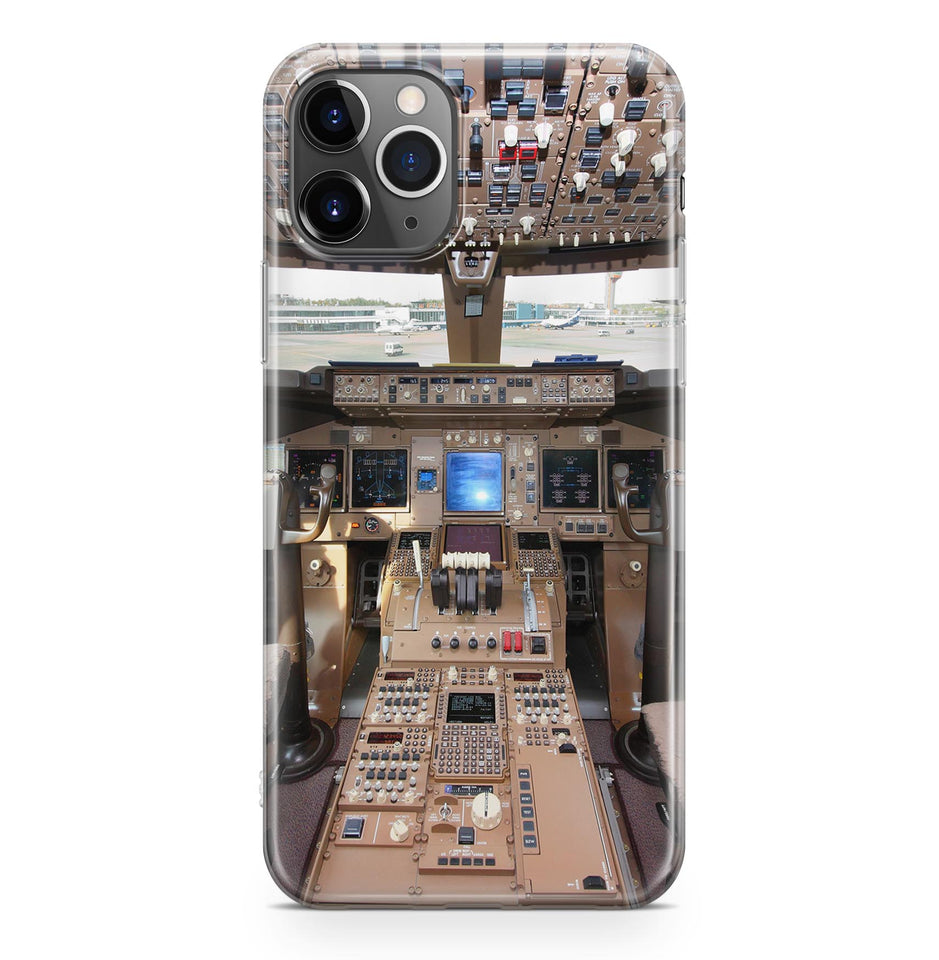 Boeing 747 Cockpit Printed iPhone Cases