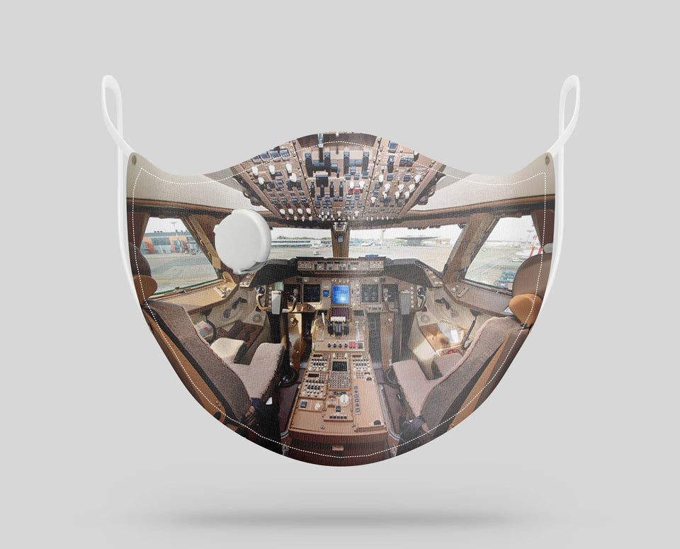 Boeing 747 Cockpit Designed Face Masks