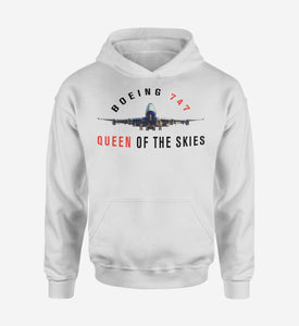 Boeing 747 Queen of the Skies Designed Hoodies