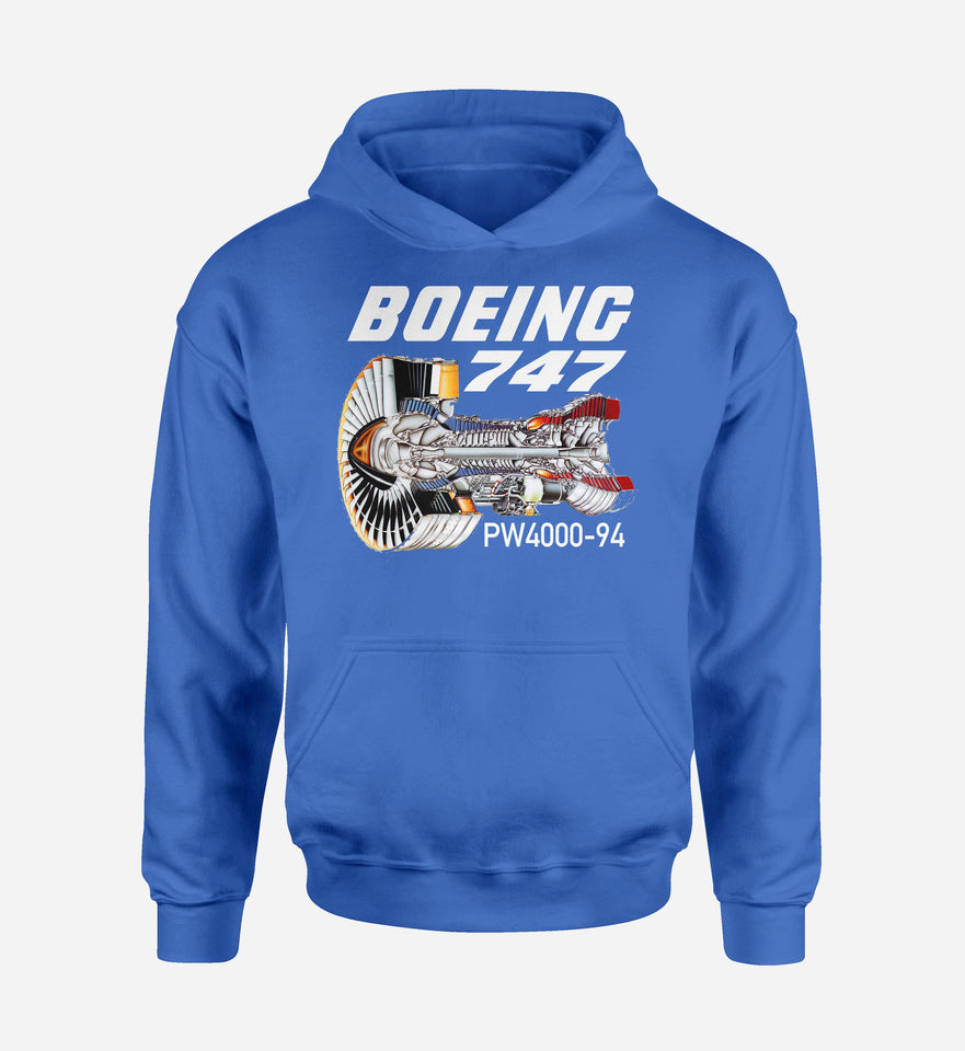 Boeing 747 & PW4000-94 Engine Designed Hoodies