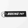 Boeing 747 & Text Designed Key Chains