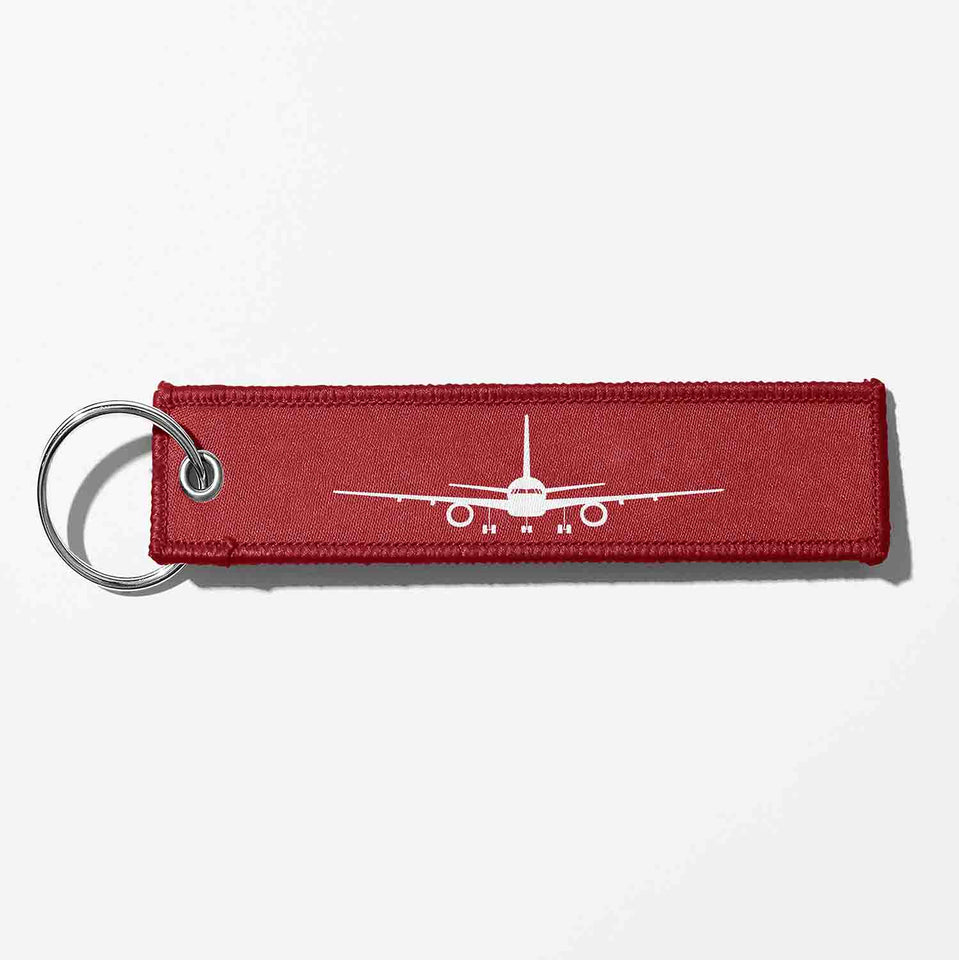 Boeing 757 Silhouette Designed Key Chains