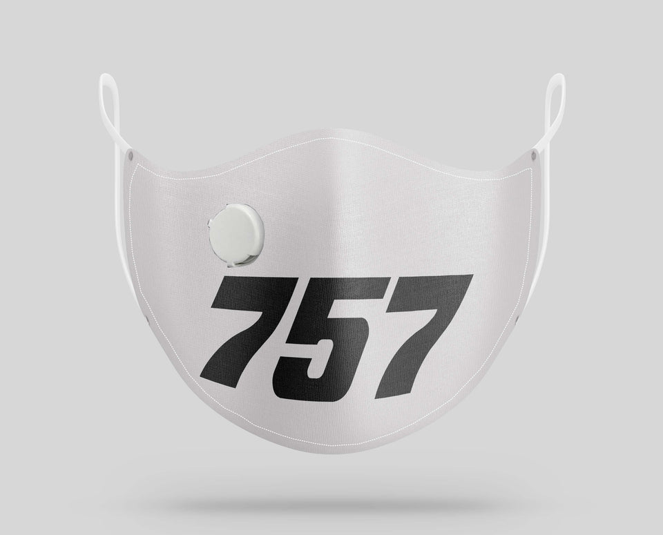 Boeing 757 Text Designed Face Masks