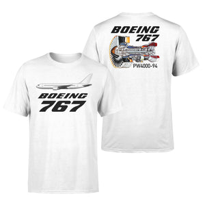 Boeing 767 Engine (PW4000-94) Designed Double-Side T-Shirts