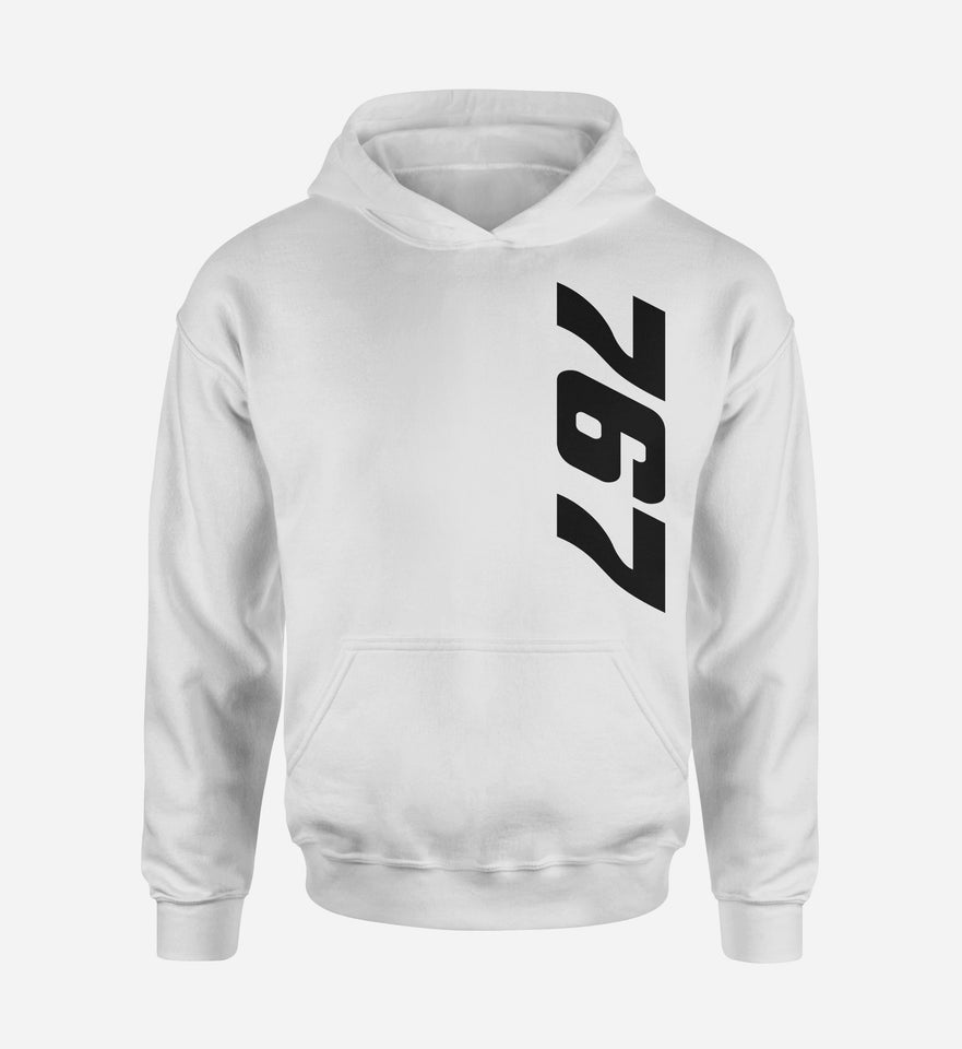 767 Side Text Designed Hoodies