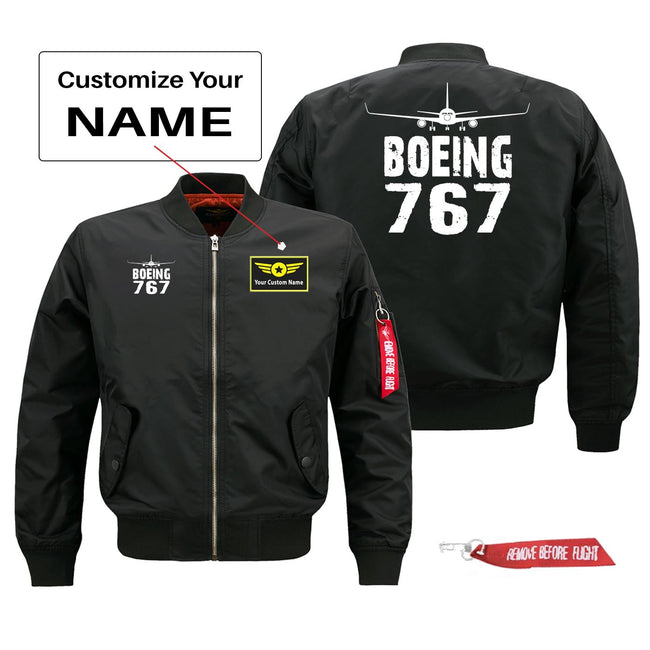 Boeing 767 Silhouette & Designed Pilot Jackets (Customizable)