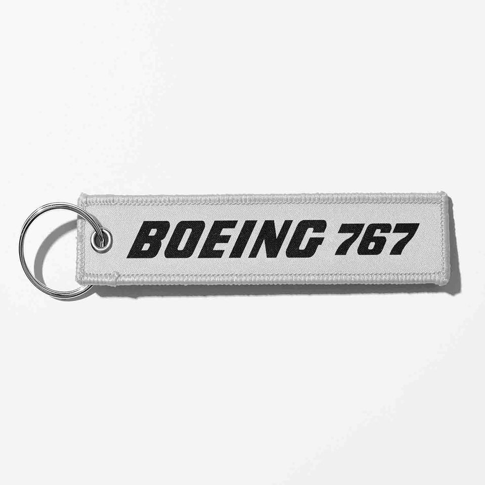 Boeing 767 & Text Designed Key Chains