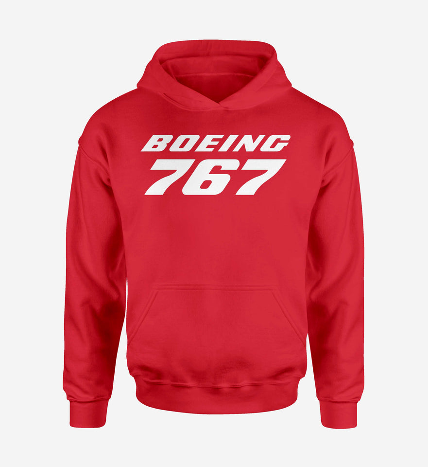 Boeing 767 & Text Designed Hoodies