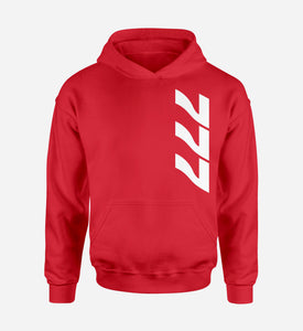 777 Side Text Designed Hoodies