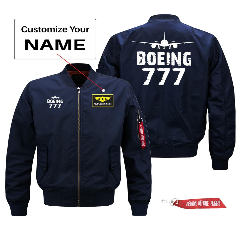 Boeing 777 Silhouette & Designed Pilot Jackets (Customizable)