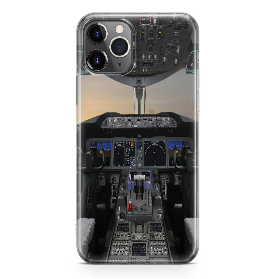 Boeing 787 Cockpit Printed iPhone Cases