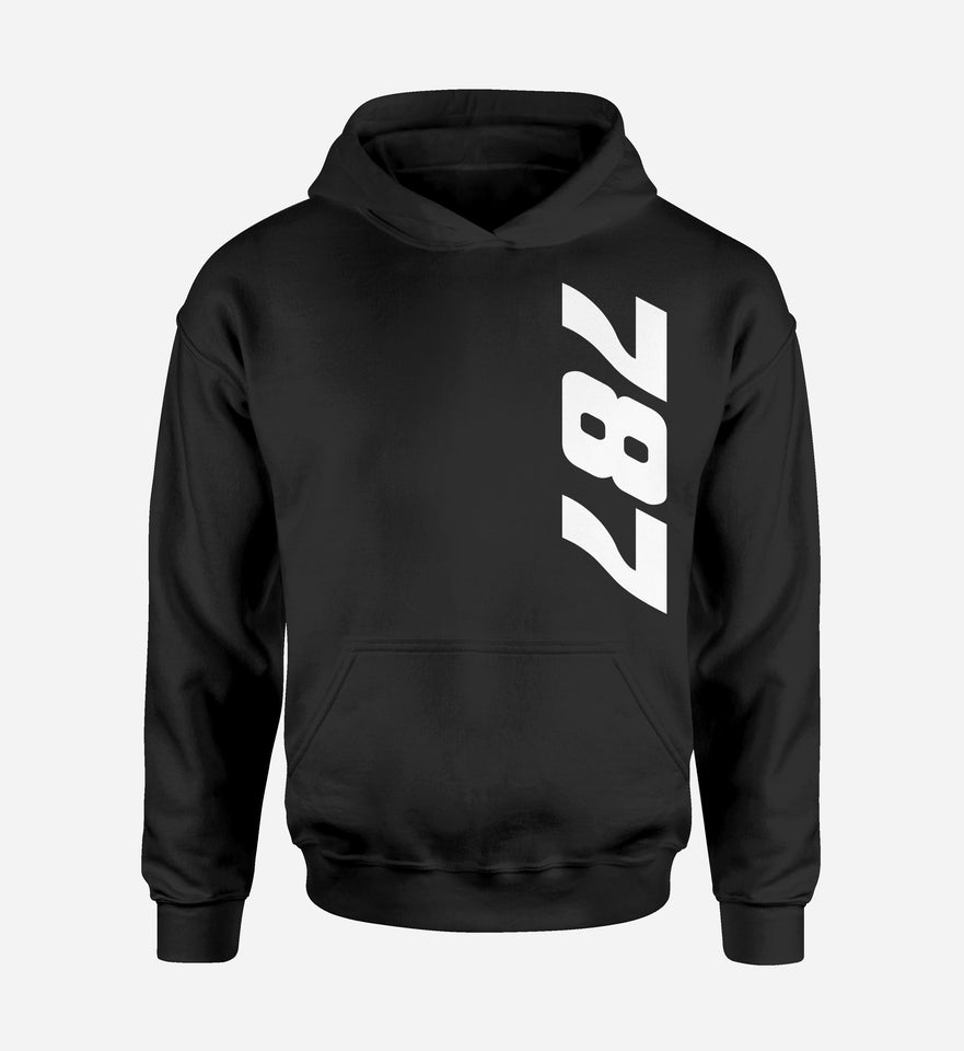 787 Side Text Designed Hoodies